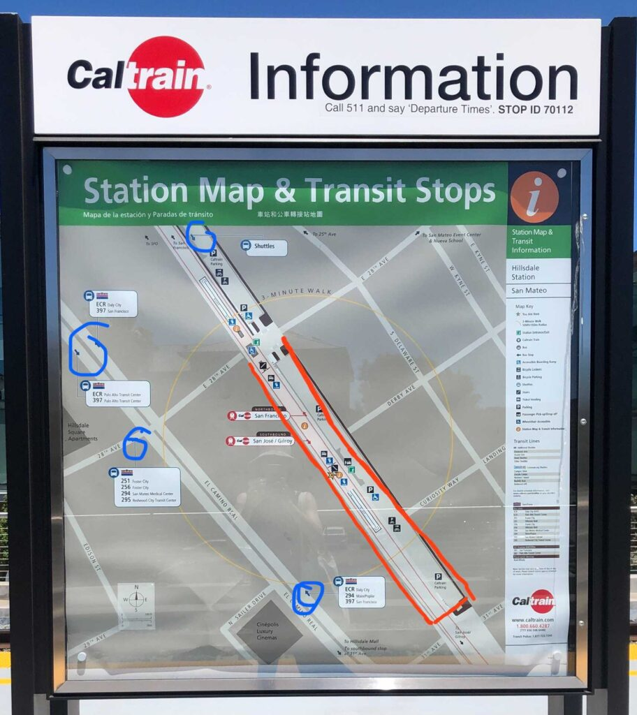 Station Map at Hillsdale